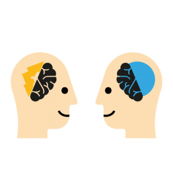 Left mind brand strategy Right mind branding visual logo